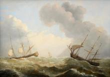 Follower of Willem Van de Velde, ships r