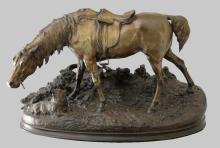 P.J. Mene, cast bronze figure of a horse