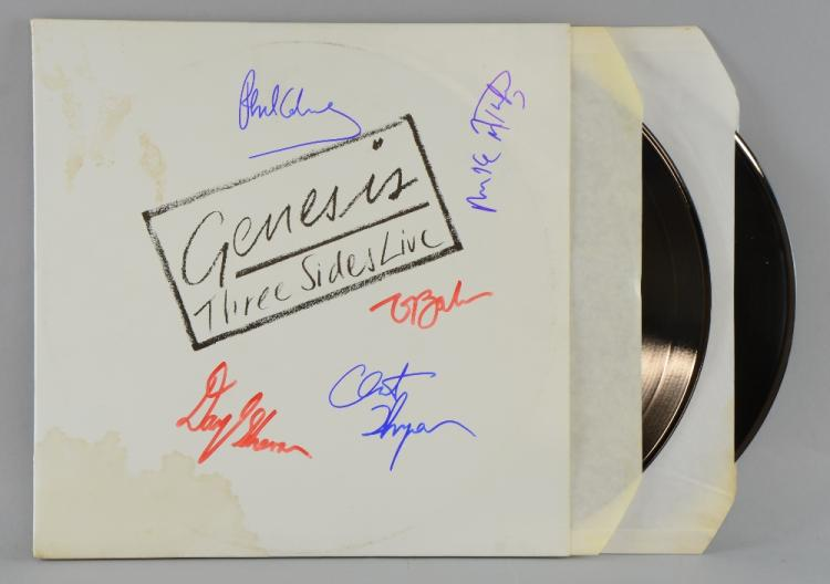 Genesis Three Sides Live Vinyl Lp Promotional Copy