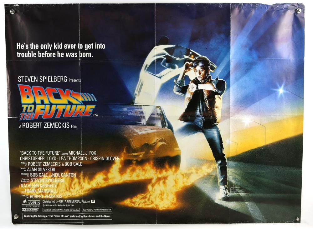 Back to the Future (1985) British Quad film poster