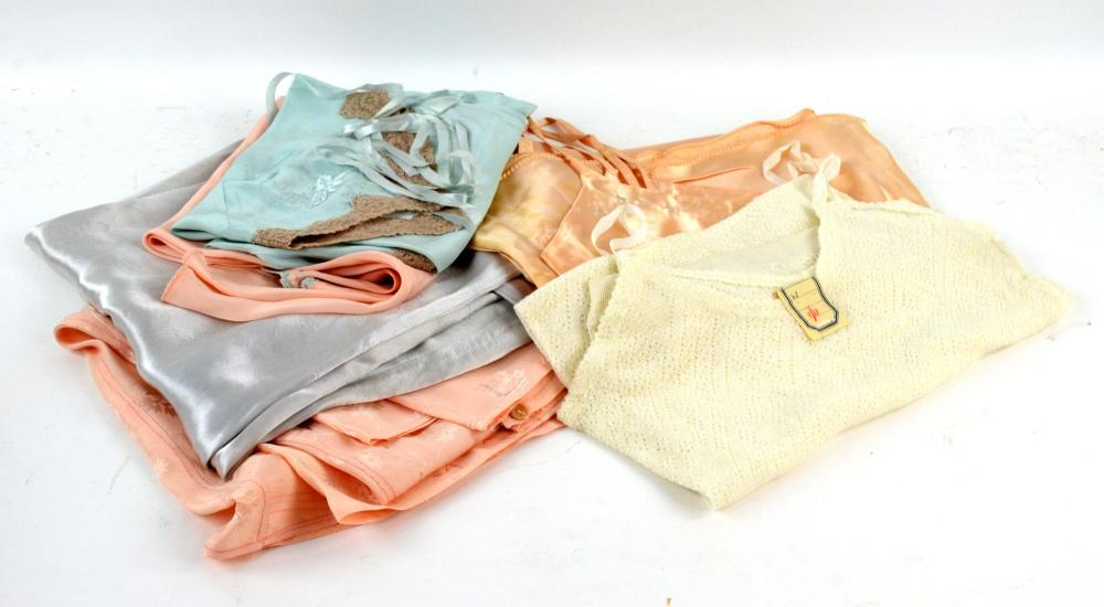 Set of 1940s underwear to include French and Camik