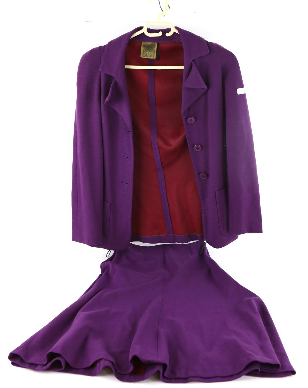 Sold Price Biba 1960s Purple Jersey Skirt Suit And Later Day July 4 0119 2 00 Pm Bst