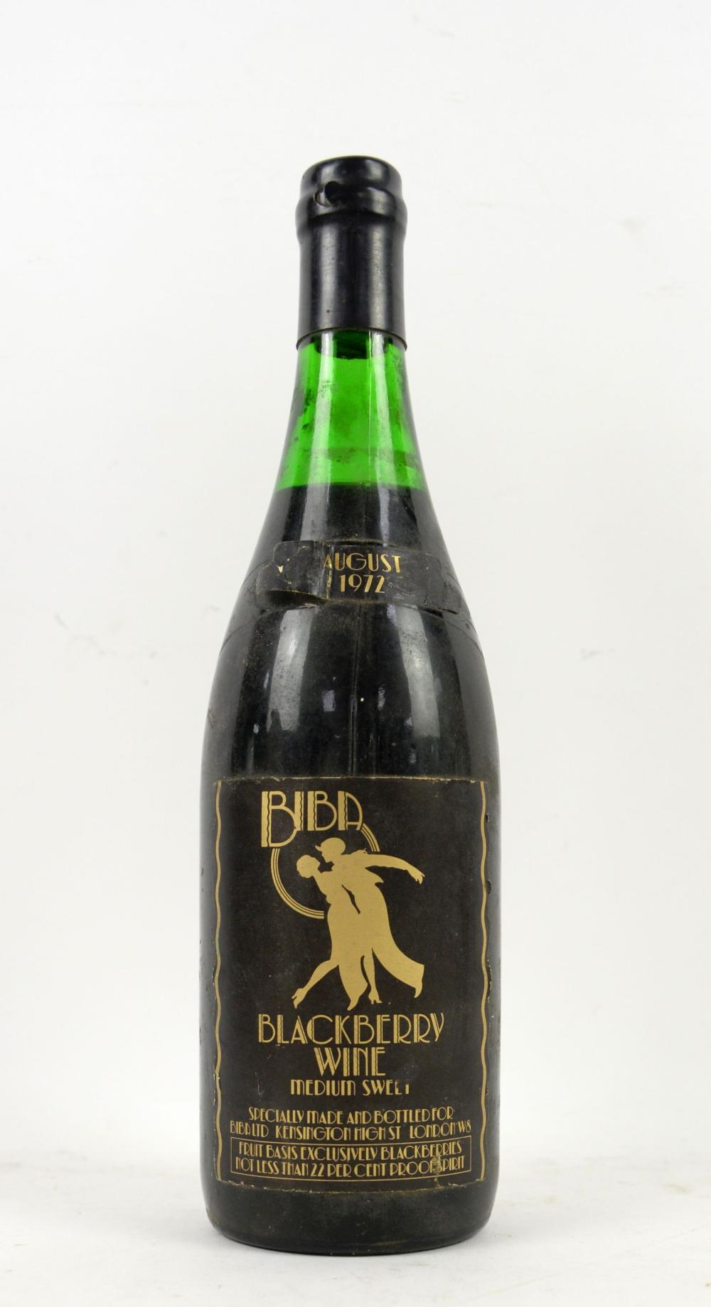 Biba Blackberry wine, 1972, specifically made and