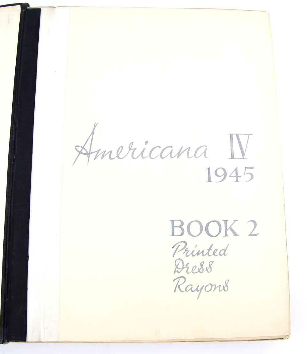 Americana IV 1945 Printed Dress Rayons, book 2 wit