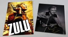 Michael Caine - a signed 'Zulu' front house graphi