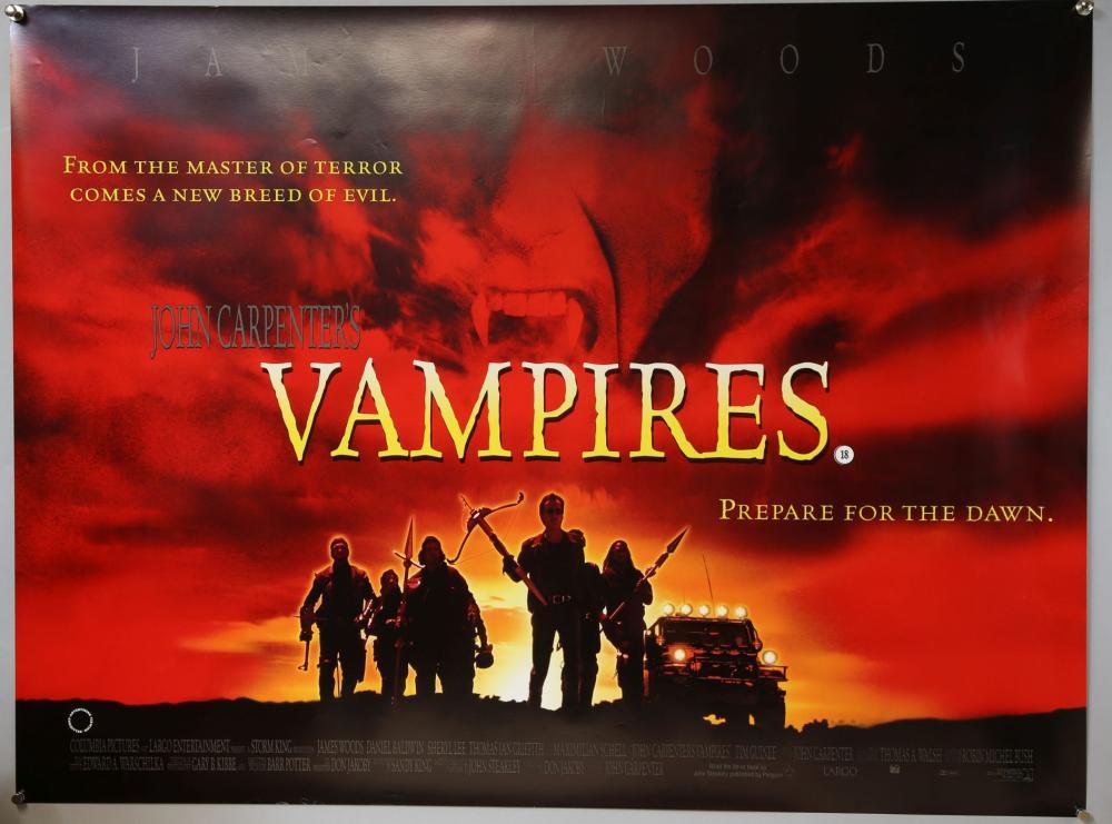 20 Horror British Quad film posters including Vamp