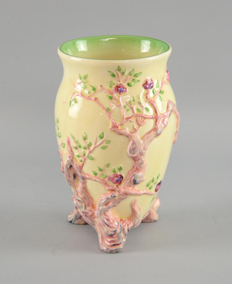 Clarice Cliff Indian Tree Pattern Vase Shape No 990 Marks