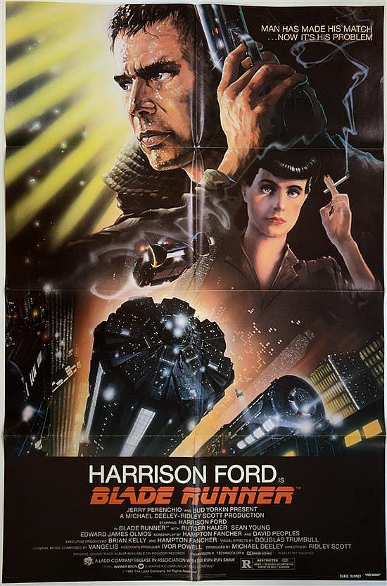 Blade Runner (Warner Bros, 1982) One sheet film poster, artwork by John Alvin, directed by Ridley Scott, NSS820007,