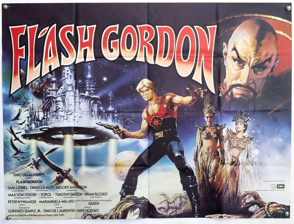 Sold Price: Flash Gordon (1980) British Quad film poster, star - May 5,  0120 12:00 PM BST