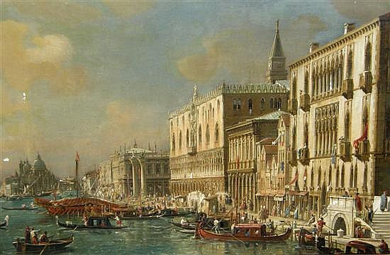 Francesco Zanin, The grand canal Venice with the Doges Palace,