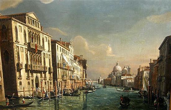 Francesco Zanin, The Grand Canal Venice, looking towards La Basilica de Santa Maria