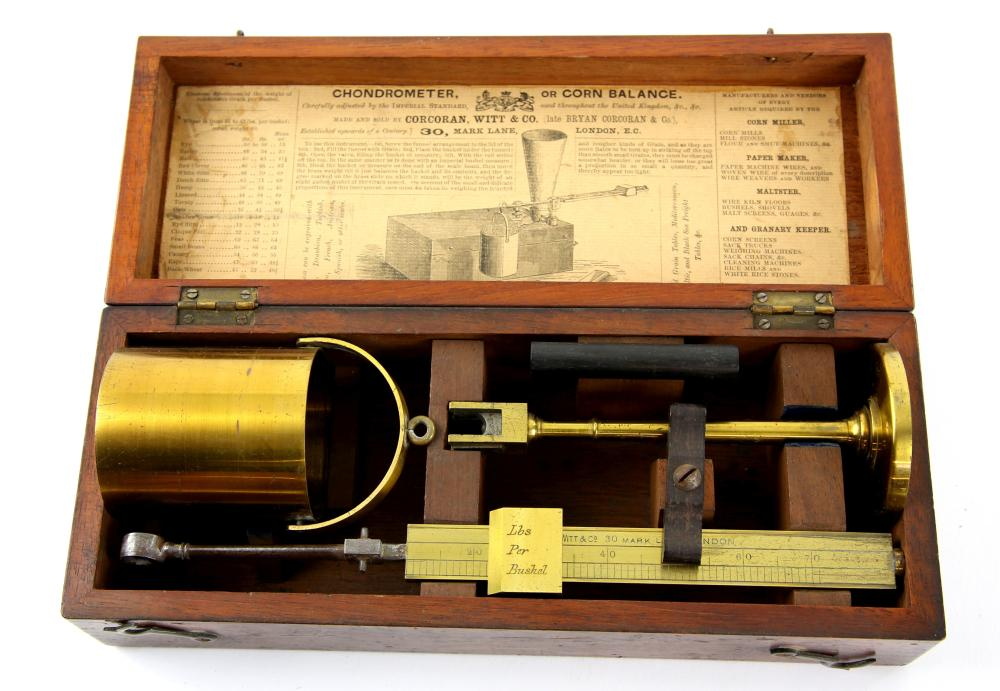 Chondrometer or Corn balance by Corcoran, Witt and