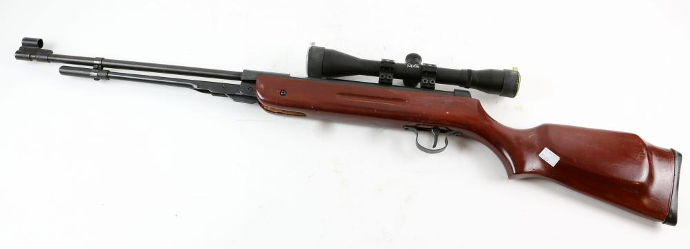 B3 5.5 cal under lever air rifle with Optik scope