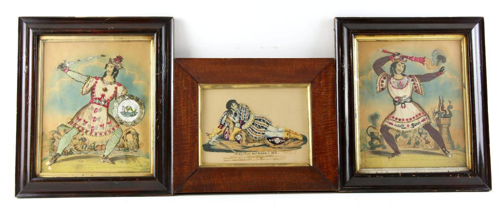 19th century theatrical 'tinsel print' depicting M