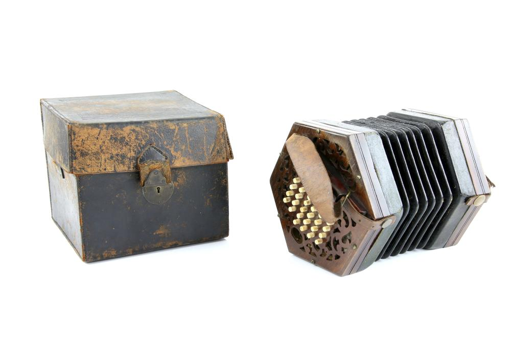 19th century Concertina by Lachenal and Co, 43 key