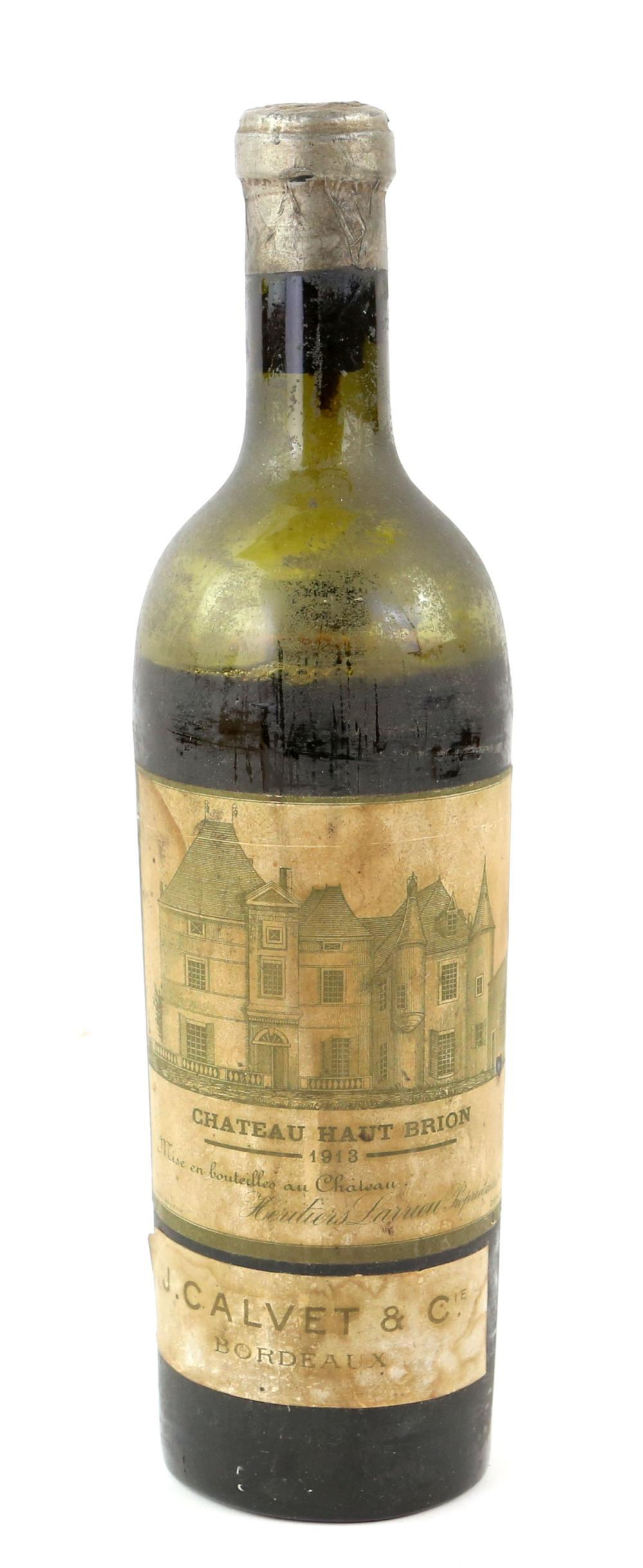 One bottle of 1913 vintage Chateau Haut Brion Bord