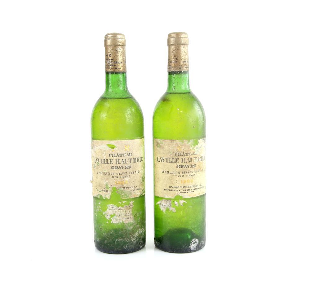 Two bottles of Chateau Laville Haut Bric Graves, 1