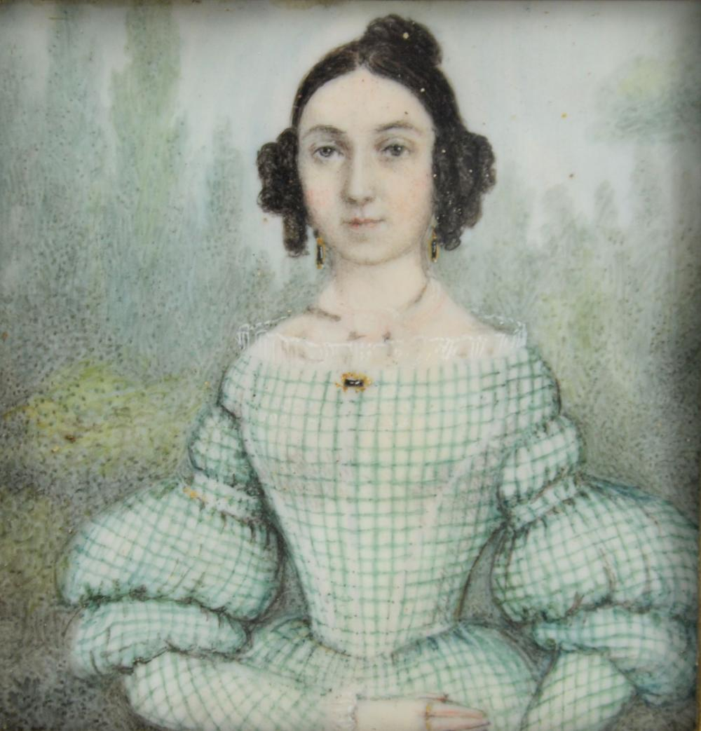 19th century portrait miniature on ivory of a woma