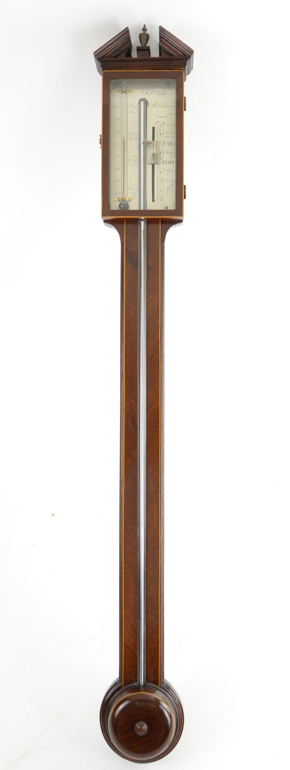19th century mahogany satinwood cross-banded stick
