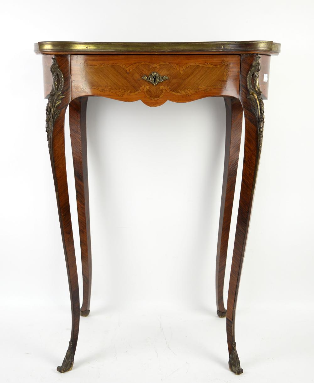 Early 20th century French kingwood and tulip wood
