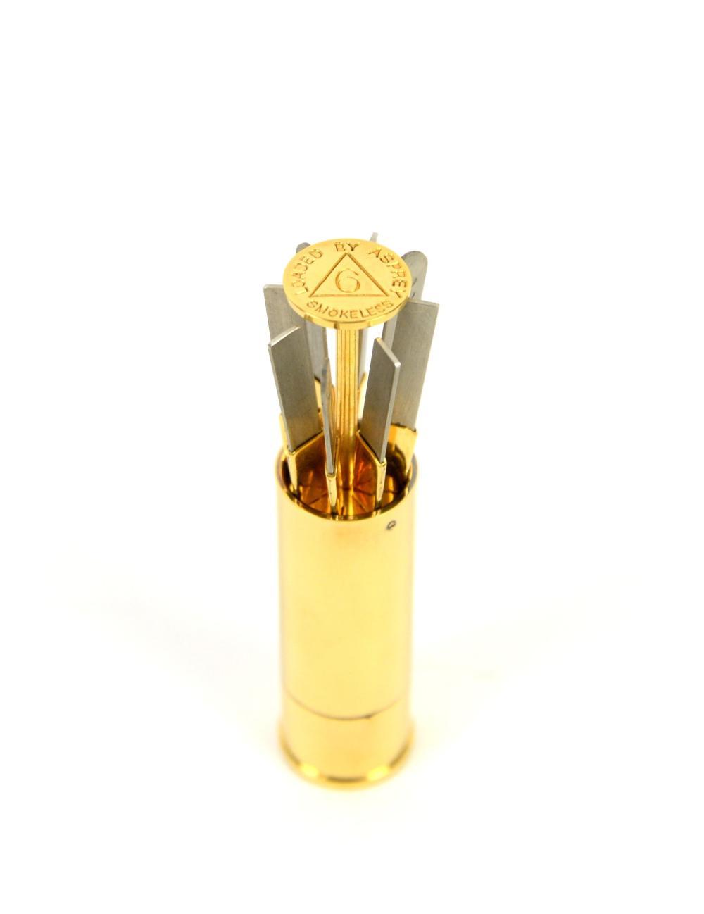 An Asprey shotgun place/butt marker, cylindrical f