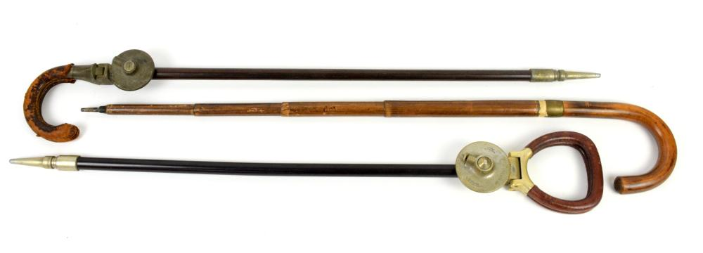 Early 20th century bamboo walking stick, umbrella/