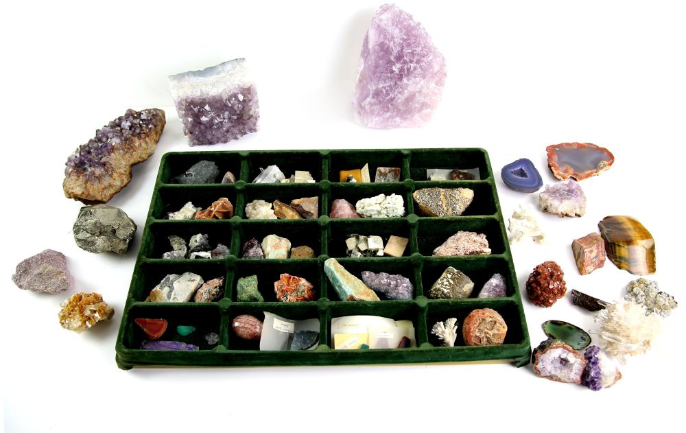 Collection of over 60 mineral specimens