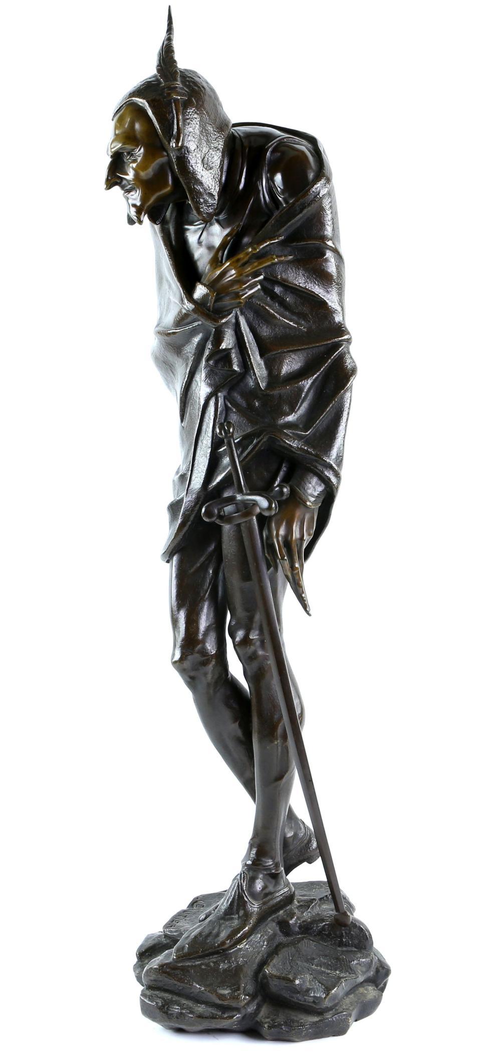 Jacques Louis Gautier (1831-) Figure of Mephistoph