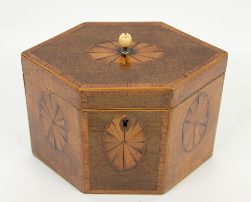 19th century mahogany and satinwood cross banded t