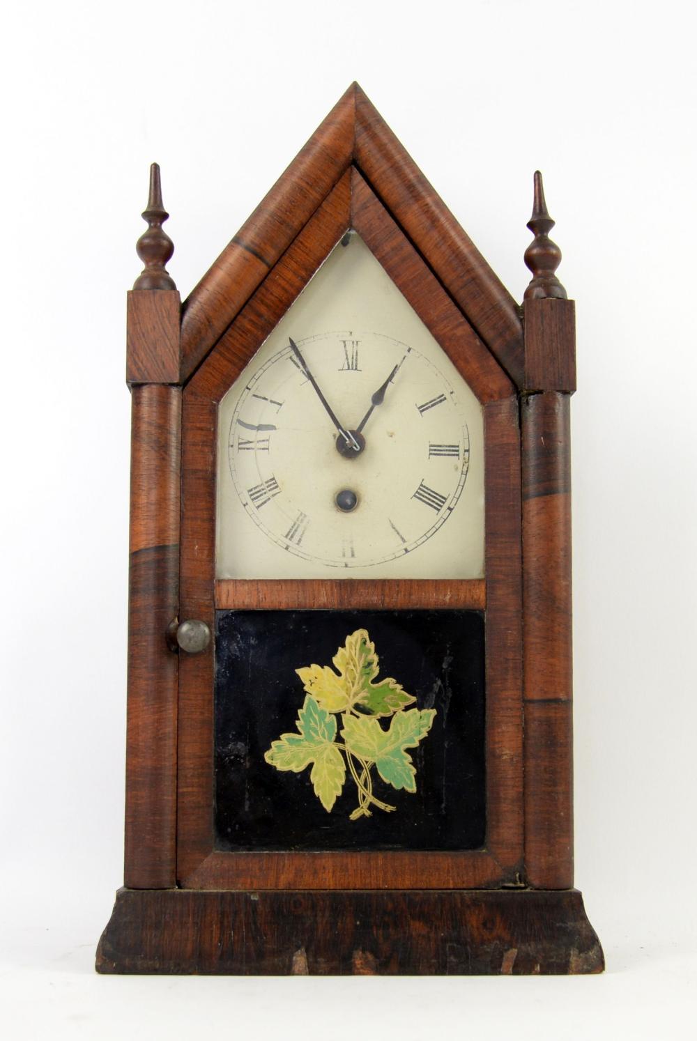 Mid 19th century American mantel clock with single