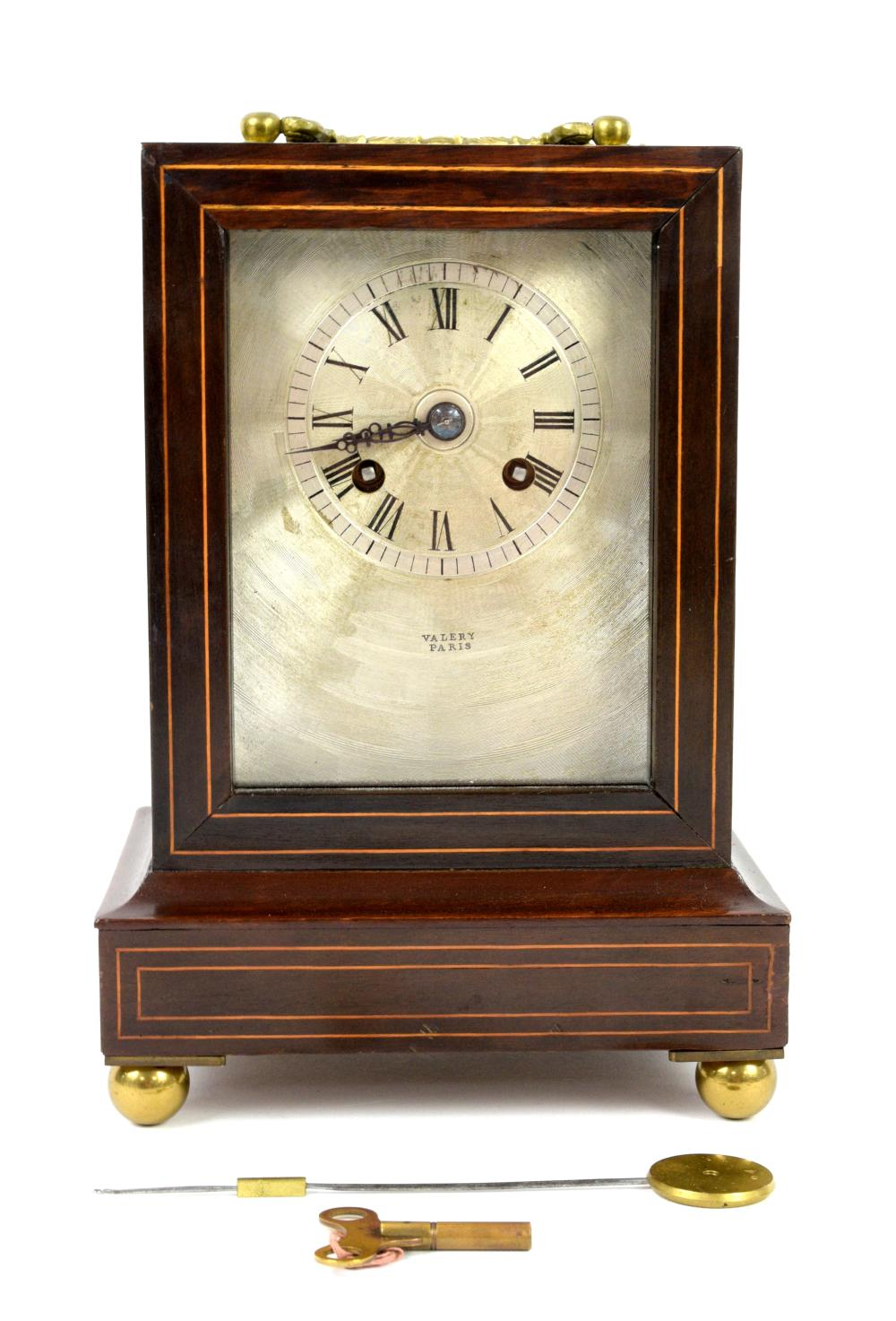 19th century two train mantle clock by Valery, Par