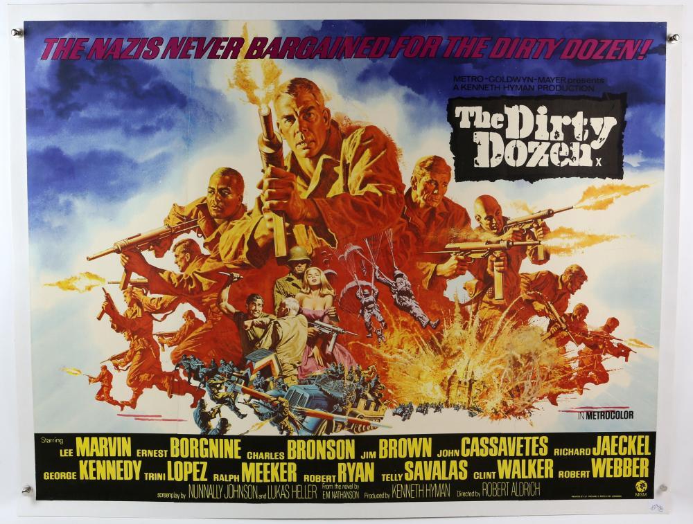 The Dirty Dozen (1967) British Quad film poster st