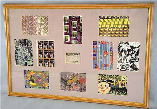 10 Designs for War Child 1994 with a signed David Bowie & Brian Eno card, limited edition of 1000,