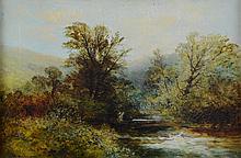 William Widgery (1822-1893). River scene, oil on canvas