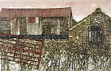 † Valerie Thornton (British, 1931-1991), etching, aquatint, signed and titled in pencil, 72/75, 39cm x 60cm, as this lot is owned by a company registered for VAT we are obliged to charge VAT on the hammer price on this lot.