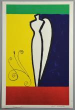 Aki Kuroda (Japanese, b.1944). Abstract lithographic print, signed. 36cm x 24cm.