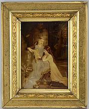 feab17c185d5 Emile Munier a crystoleum with Pre-Raphaelite scene