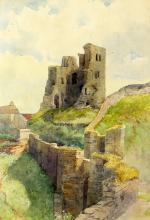 Arthur Suker (British, 1857-1902), 'Corfe Castle,