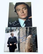 Michael Caine - Two signed 'Get Carter' photographs 10 x 8 inches, both with certificates. (2)