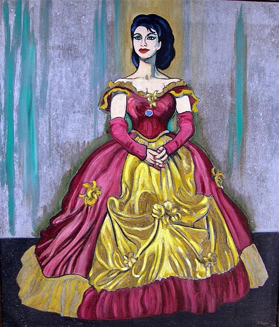 Sir Claude Francis Barry (1883-1970), full length portrait of Mary Marshall,