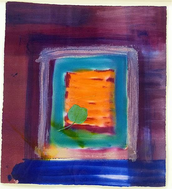 Heidi Konig (b.1964) 'Innenhof' woodcut etching,