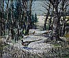 Valerie Fraser, R.S.W, Scottish b. 1933 - Pheasants in woodland, oil on board, signed, Valerie Fraser, Click for value