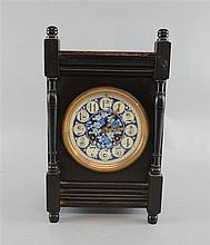 Aesthetic movement ebonised mantel clock