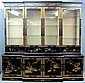 20th century Chinese lacquered display cabinet,
