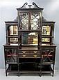 19th century mahogany display cabinet astragal glazed doors