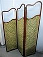 Early 20th century mahogany three tiered screen