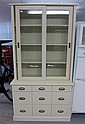 Modern painted bookcase cabinet