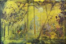 § Sven Berlin, 1911-1999, Abstract landscape, sign