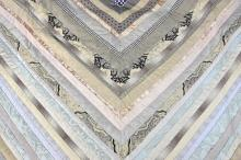Mary Fogg, textile artist,  a quilted hanging of p