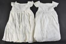 An Ayrshire work christening gown, with embroidere